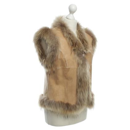 Other Designer Queen for a day - fur vest in beige