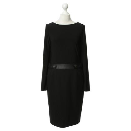Ralph Lauren Dress belted in leather optics
