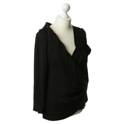 DKNY Top asimmetrica in nero