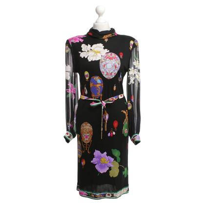 Leonard Silk dress with floral print