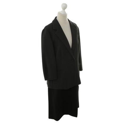 Max Mara Costume bicolore gris/noir