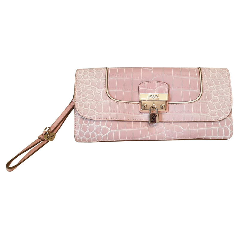 Guess Clutch Bag in Pink Second Hand Guess Clutch Bag in