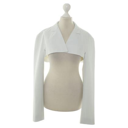 Jil Sander Short Blazer in white