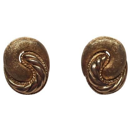 Christian Dior Curved ear clips