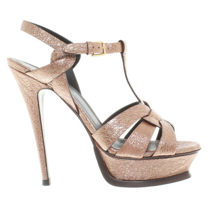 Yves Saint Laurent Sandalen Metallic