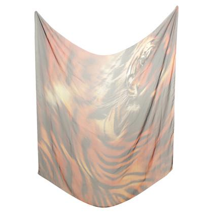 Roberto Cavalli Zijden sjaal in Animal-Look