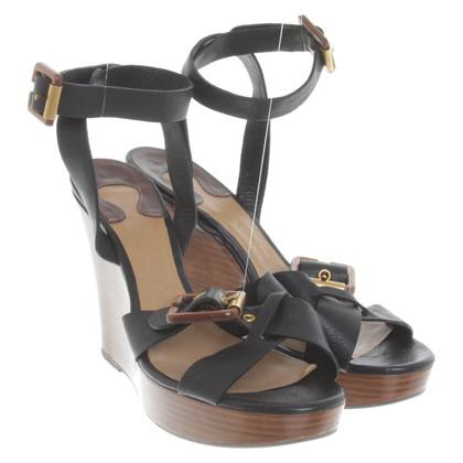 Chloé Leren sandalen