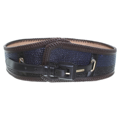 Burberry Prorsum Waist belt in black/blue