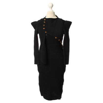 Vivienne Westwood Gebreide jurk en jas ensemble