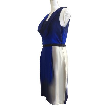 Max Mara Blauwe zijden jurk