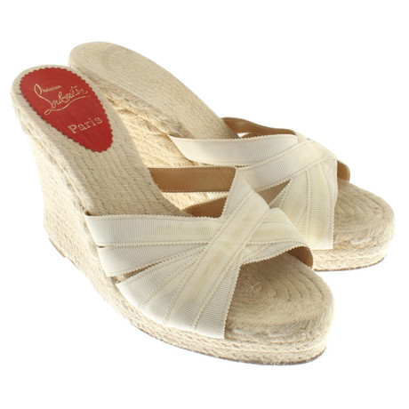 Creme Christian Louboutin Christian Wedges Creme in Creme Wedges Louboutin in Creme Louboutin Christian Wedges 7prBq7