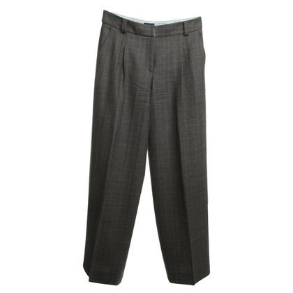 Giorgio Armani Marlene trousers in gray with diamond pattern