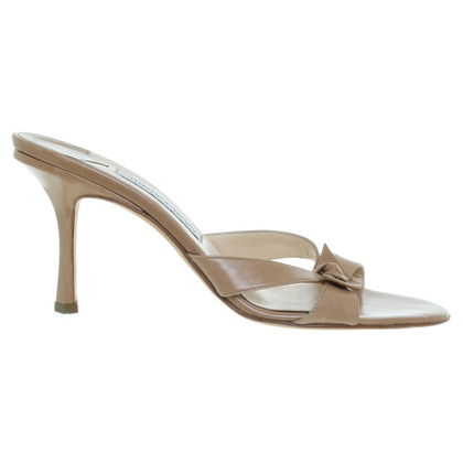 Jimmy Choo Pantoletten in Beige