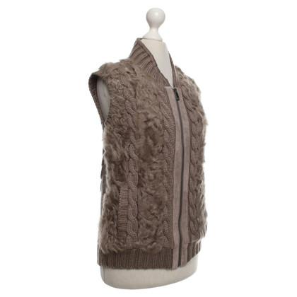 Oakwood Knitted vest in grey brown