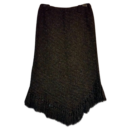 Missoni Brown skirt with fringes