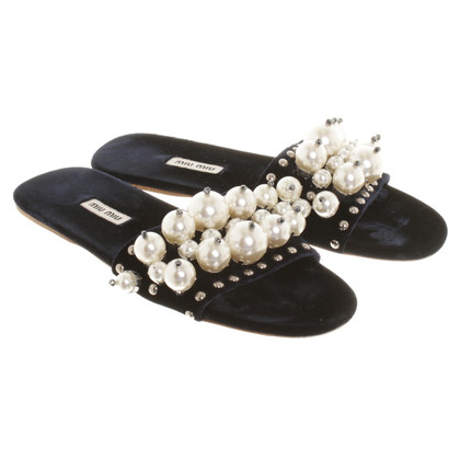 Miu Miu Sandals in dark blue