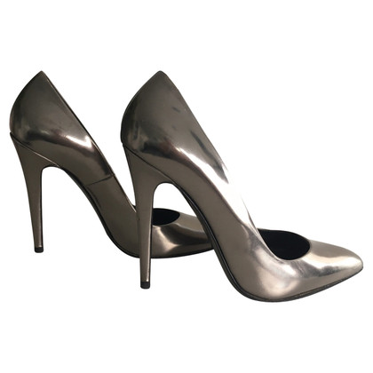 Hugo Boss Silberfarbene Pumps