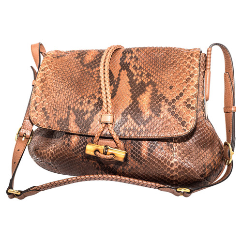65d6d3846e10 Gucci Shoulder bag made of python leather - Second Hand Gucci ...