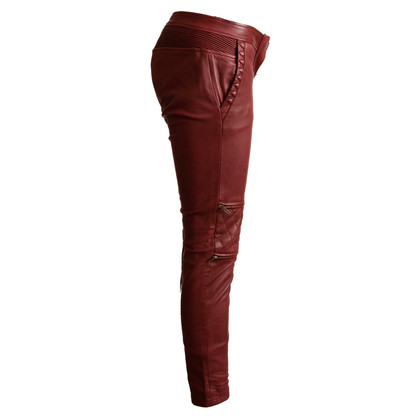 Maison Scotch Lederen broek