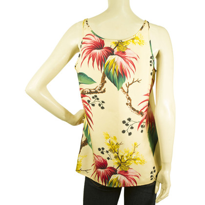 Dsquared2 Extrême nature Womans Silk sans manches Top
