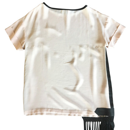 Dries van Noten Silk top with fringes