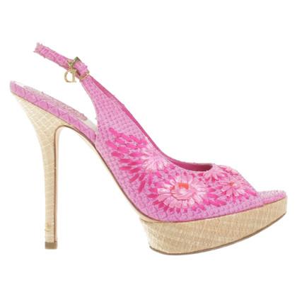 Christian Dior Sandalen gemaakt van reptielenleer