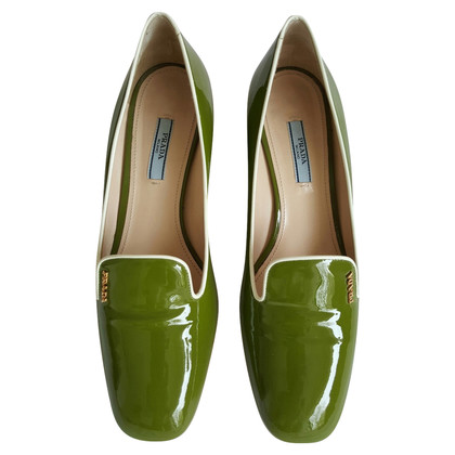 Prada Green Patent Leather Pumps