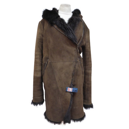 Giorgio Brato Lamb fur coat with hood