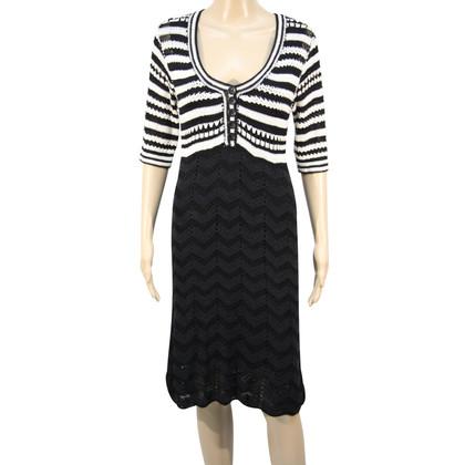 Karen Millen Gebreide jurk in zwart / wit