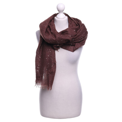 Brunello Cucinelli Scarf with sequin trim