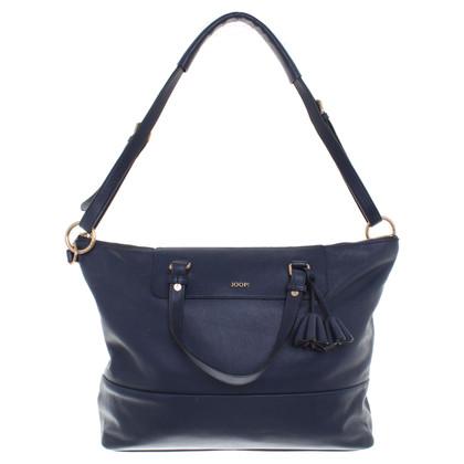 JOOP! Leather handbag in dark blue