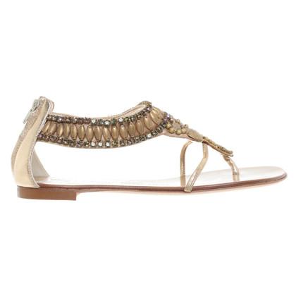 Giuseppe Zanotti Sandals with semi-precious stones