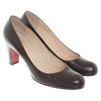 Christian Louboutin Lederpumps in Braun