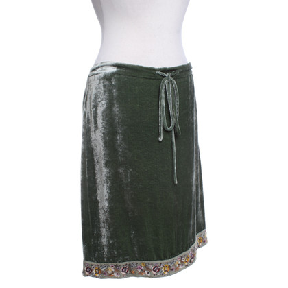 Etro Fluwelen rok in groen