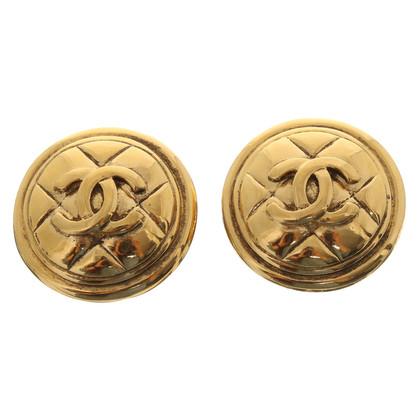 Chanel Clip oorbellen met CC-logo