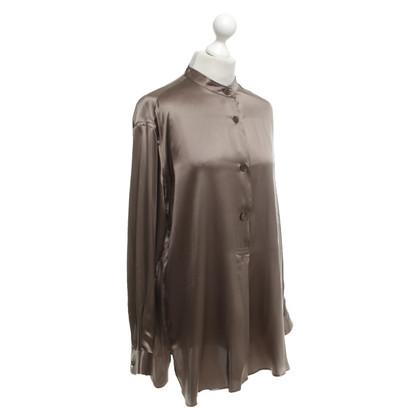 Armani Silk blouse in olive