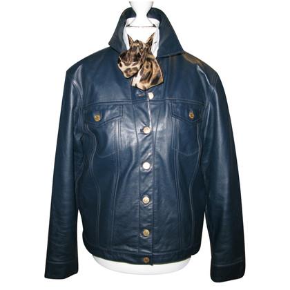 Ralph Lauren Leather Jacket in Blauw