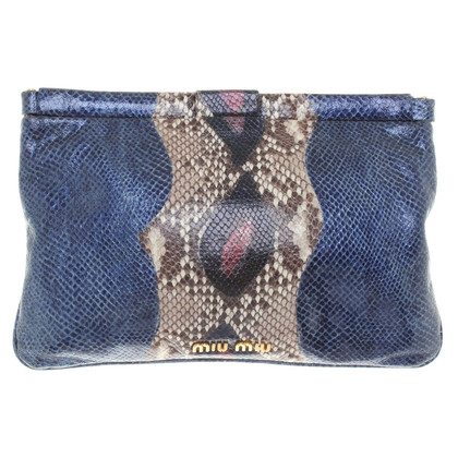 Miu Miu clutch made of embossed leather