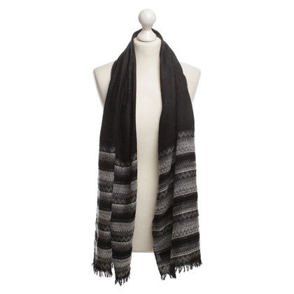 Missoni Web scarf in black/grey