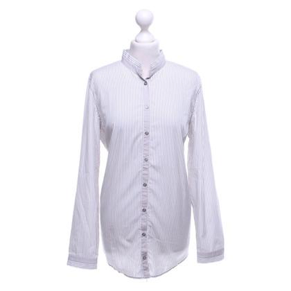 Van Laack Blouse met overhemd en verticale strepen