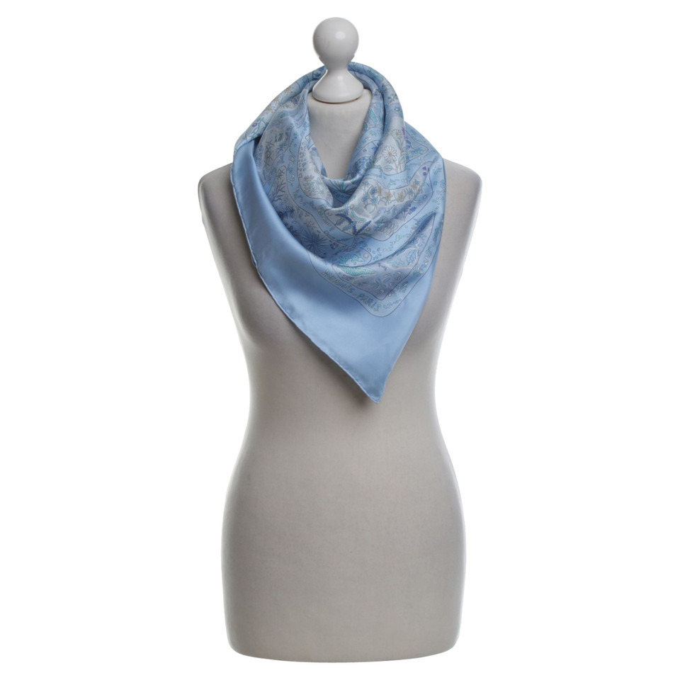 herm s silk scarf in blue tones buy second hand herm s silk scarf in blue tones for. Black Bedroom Furniture Sets. Home Design Ideas