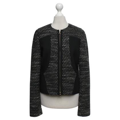 Patrizia Pepe Bouclé giacca in nero / grigio