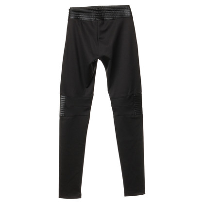 Philipp Plein Stretchbikerhose in Schwarz