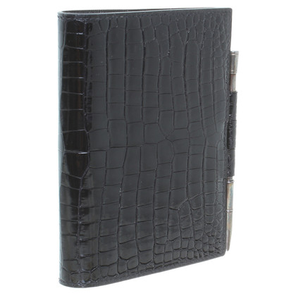 Hermès Address book, crocodile leather