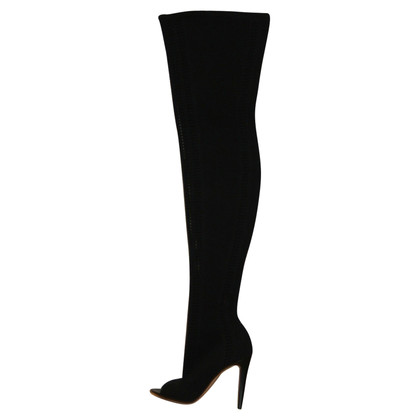 Gianvito Rossi 'Vires' over thigh knitted booties