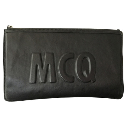 McQ Alexander McQueen Leather clutch with embossing