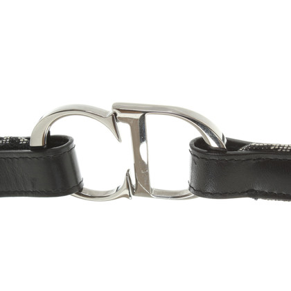 Christian Dior riem in zwart / White