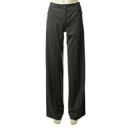 Akris grey wool trousers with creases