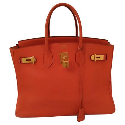 """Hermès """"Birkin Bag 35"""" in oranje"""