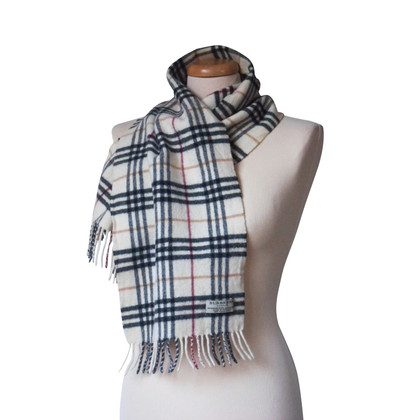 Burberry Wool scarf with cashmere content